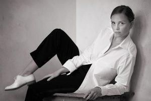White shirt worn by a woman
