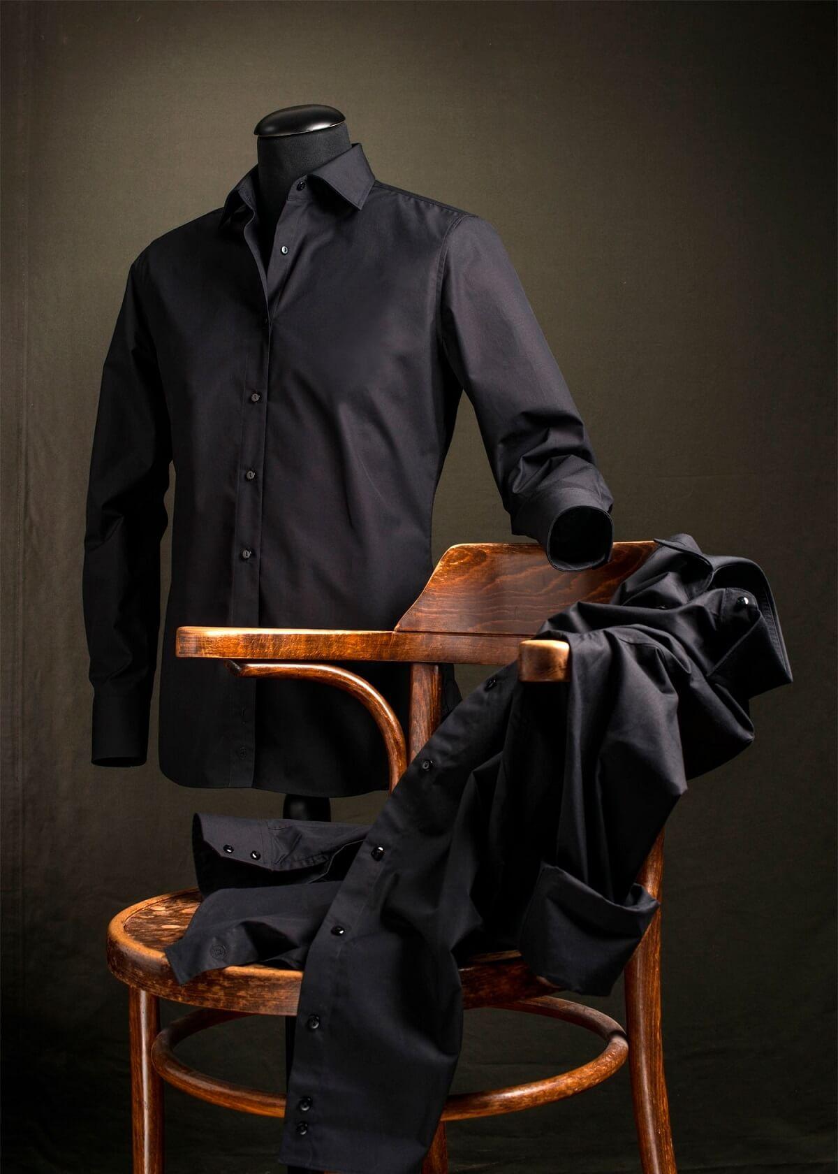 Zwart Overhemd We.Zwart Overhemd Slim Fit Klassiek Van Cees N Co