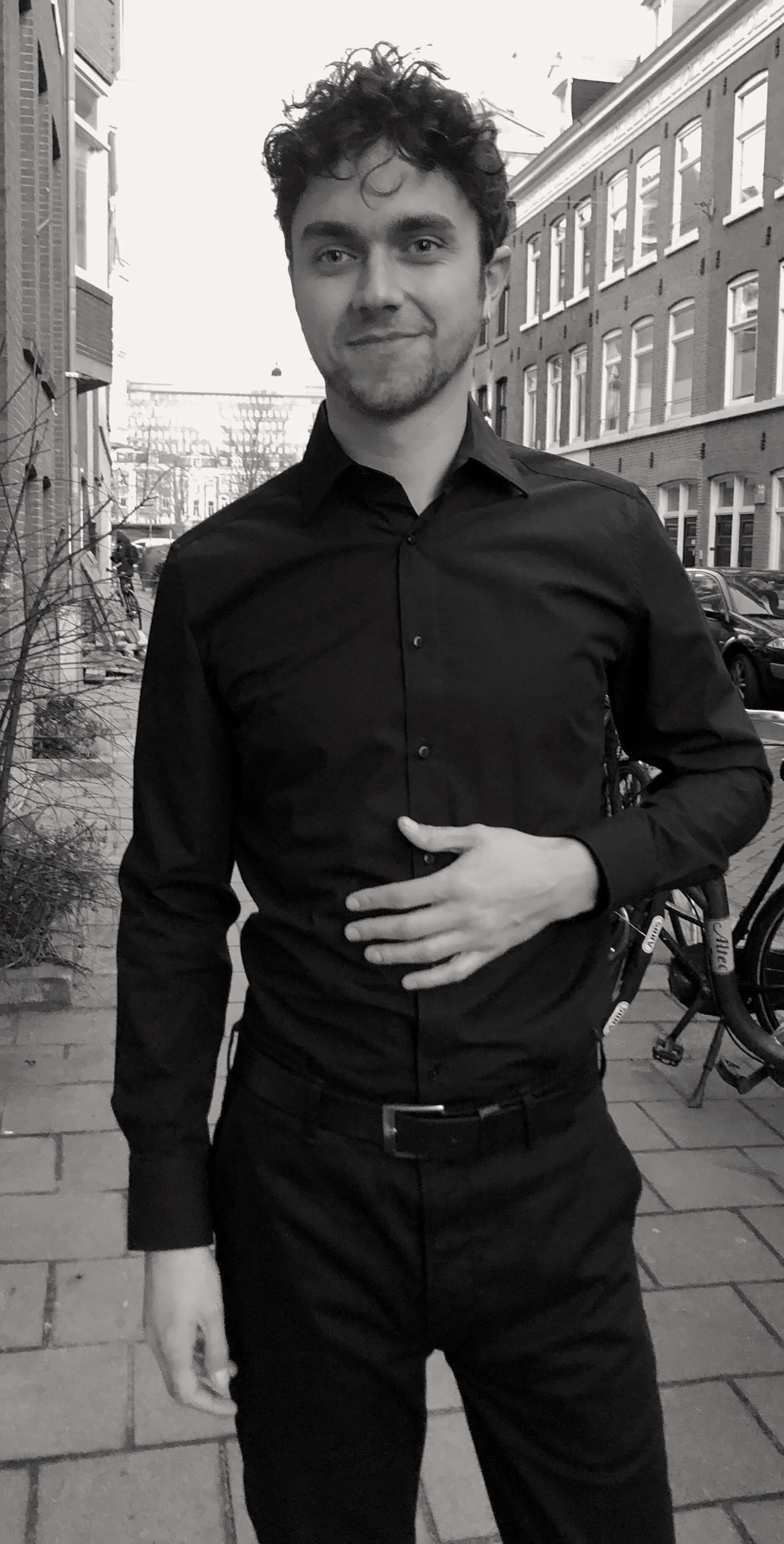 Zwart Overhemd We.Getailleerd Overhemd Gemaakt Van 100 Katoen Cees N Co