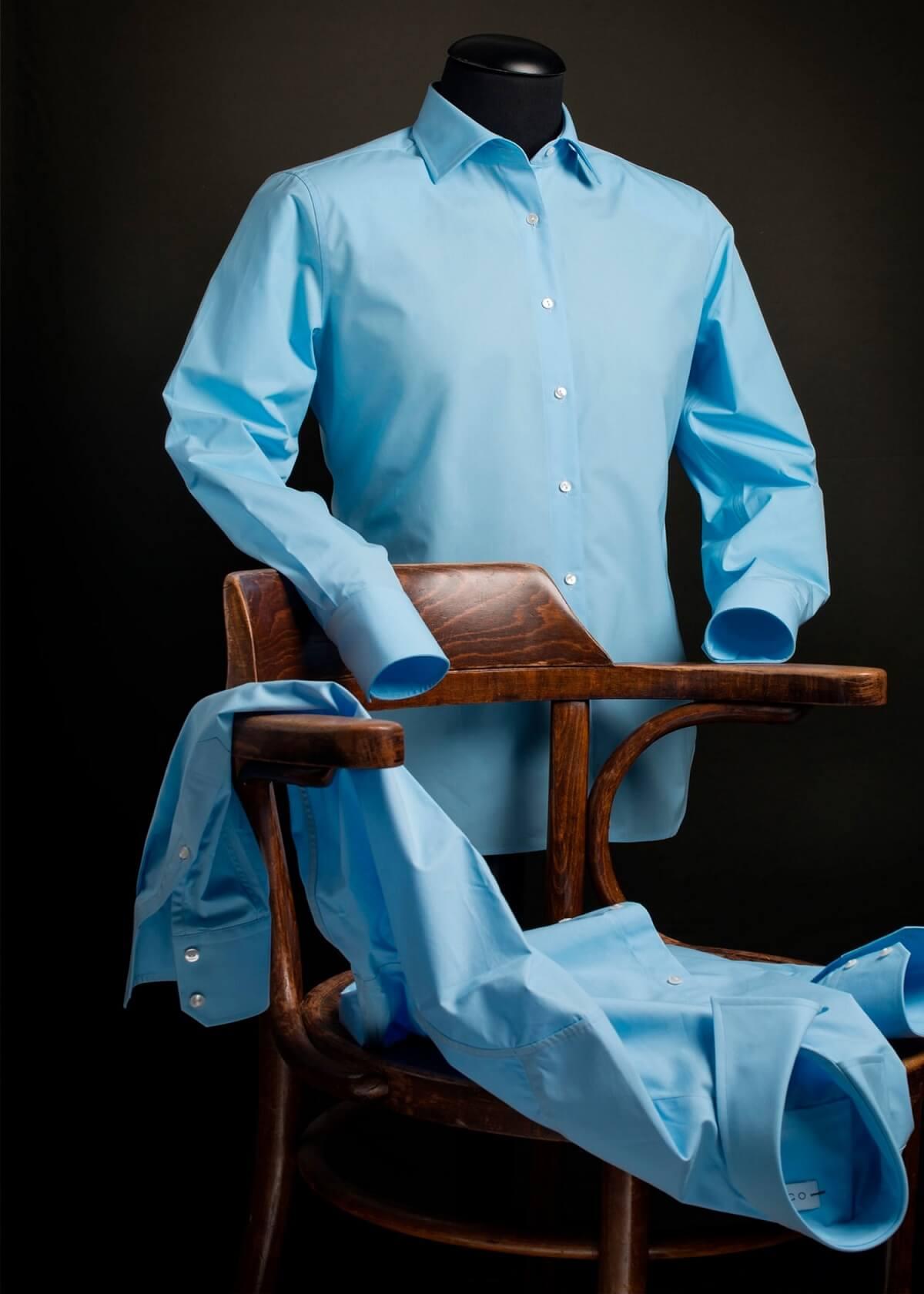 Overhemd Voor Hem.Blauw Overhemd Regular Fit 100 Katoen Van Cees N Co