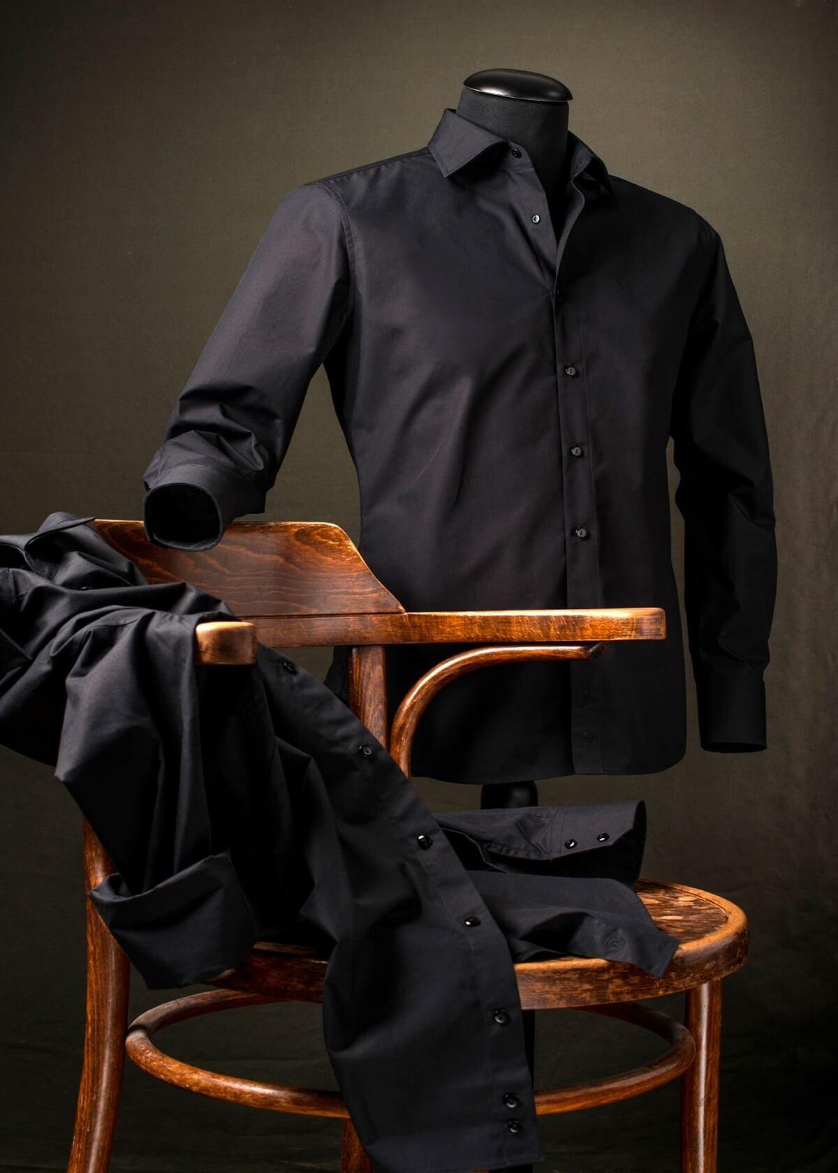 Zwart Overhemd We.Zwart Overhemd Regular Fit 100 Katoen Van Cees N Co