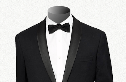How to wear a shirt with a tuxedo?