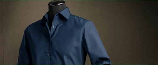 Donkerblauw heren overhemd