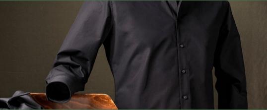 Heren blouse zwart